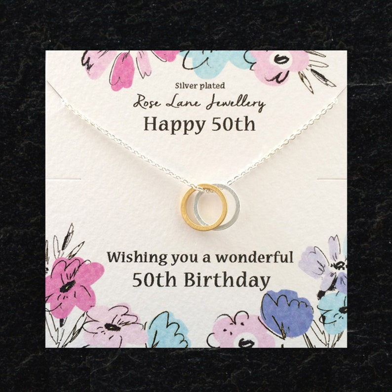 Happy 50th Birthday Necklace50th Pendant Necklace Age Fifty