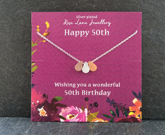 50th Birthday Jewellery Fifty Necklace