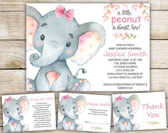 Baby Shower Invitation Girl Etsy