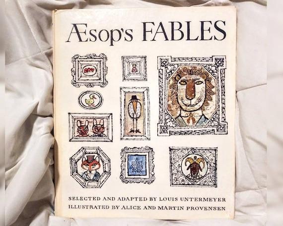 Aesop's Fables, 1967 Hardcover, 3rd Printing, Rare Vintage Children's Book, Folk Tales, Vintage Folk Art