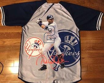 4fbe1c5e3 Yankees Majestic Rare Derek jeter Jersey Sz M