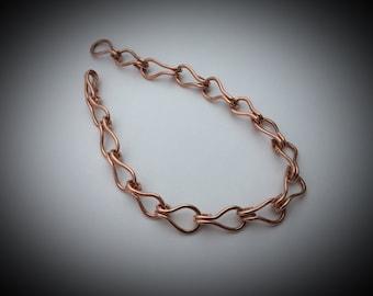 Copper Link Bracelet or Anklet