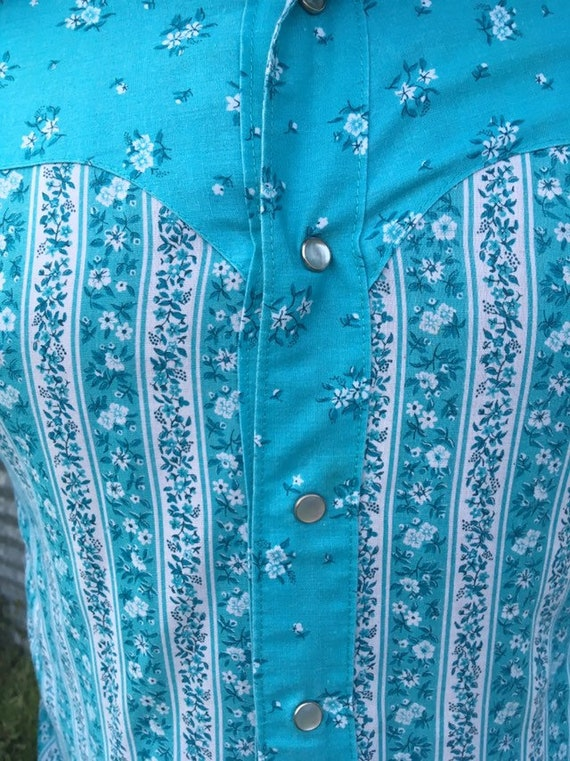 70's Floral Button Up - image 2