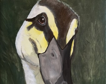 """Painting duck 20x20 cm """"farm animals""""//gift children's room//Mothers Day"""