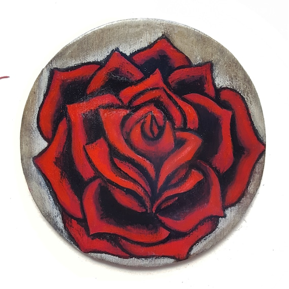 Rose Red Rose Rose Tattoo Small Rose Tattoo Style Etsy