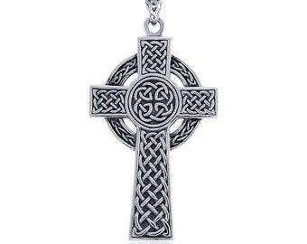 Celtic Cross, Cross Necklace, Celtic Jewelry, Anniversary Gift, First Communion Cross, Baptism Cross, Religious Jewelry, Irish Jewelry