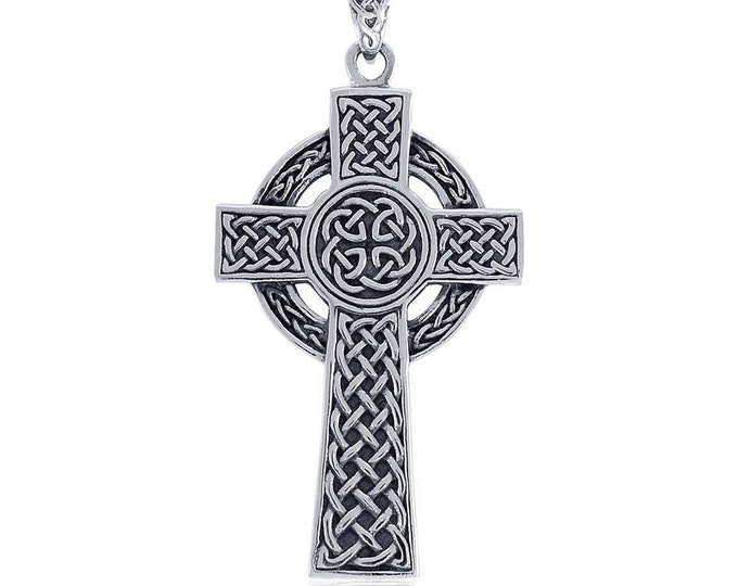 Celtic Cross, Cross Necklace, Celtic Jewelry, Anniversary Gift, First Communion Cross, Baptism Cross, Religious Jewelry, Irish Jewelry