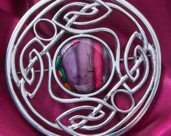 Celtic Knot Brooch, Celtic Jewelry, Scotland Jewelry, Norse Jewelry, Bridal Jewelry, Anniversary Gift, Outlander Jewelry, Viking Pin