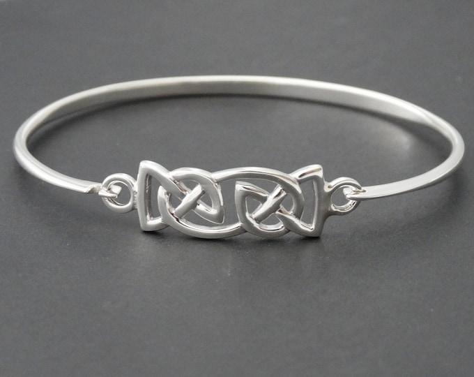 Celtic Knot Bracelet, Celtic Jewelry, Irish Jewelry, Love Knot Jewelry, Bridal Jewelry, Girlfriend Gift, Wife Gift, Wiccan Jewelry
