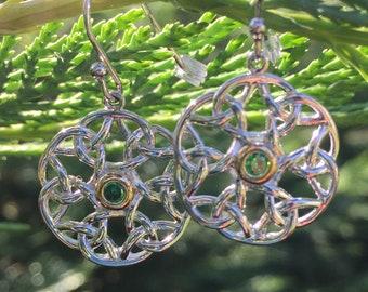 Sterling Silver Celtic Weave Earrings, Irish Earrings, Gift for Her, Valentine's Day gift, Girlfriend Gift