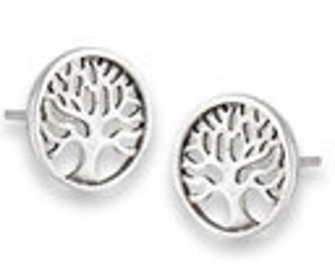 Tree of Life Stud Earrings, Tree Stud Earrings, Norse Jewelry, Wiccan Jewelry, Mother's Day, Easter Gift, Sister, Girlfriend, Anniversary