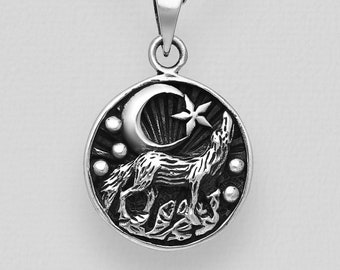 Wolf Necklace, Celtic Jewelry, Norse Jewelry, Pagan Pendant, Viking Jewelry, Celtic Knot Pendant, Animal Jewelry, Direwolf Jewelry, Dad Gift