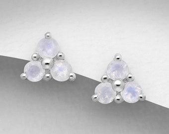 Moonstone Stud Earrings, Irish Jewelry, Celtic Jewelry, Anniversary Gift, Moonstone Jewelry, Mom Gift, Wiccan Jewelry, June Birthstone