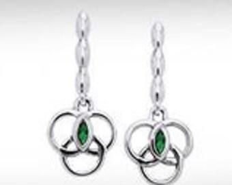 Celtic Weave Drop Sterling Silver Earrings