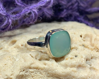 Celtic Mystic Ring, Chalcedony Jewelry, Celtic Ring, Gemstone Jewelry, Celtic Jewelry, Anniversary Gift, Wiccan Jewelry, Wife Gift