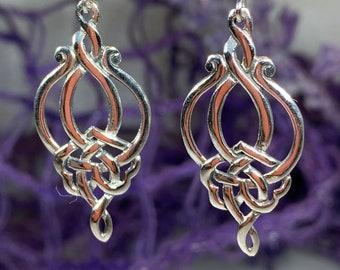 Celtic Knot Earrings, Celtic Jewelry, Irish Jewelry, Anniversary Gift, Scotland Jewelry, Wife Gift, Endless Knot Earrings, Ireland Gift