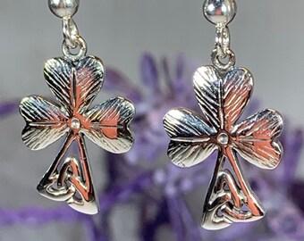Shamrock Earrings, Celtic Jewelry, Trinity Knot Jewelry, Celtic Knot Jewelry, Irish Jewelry, Mom Gift, Clover Jewelry, Wiccan Jewelry