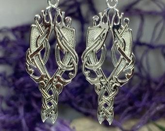 Celtic Viking Earrings, Celtic Jewelry, Irish Jewelry, Ireland Gift, Wife Gift, Norse Jewelry, Urnes Jewelry, Anniversary Gift