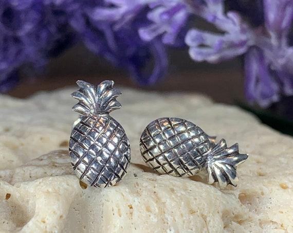 Pineapple Earrings, Beach Jewelry, Hawaii Jewelry, Fruit Earrings, Stud Earrings, Anniversary Gift, Inspirational Jewelry, Sweet 16 Gift