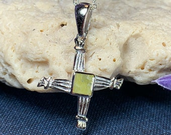 Saint Bridget's Celtic Cross, Connemara Marble, Celtic Cross Jewelry, Irish Jewelry, Ireland Gift, First Communion Gift, Confirmation Gift