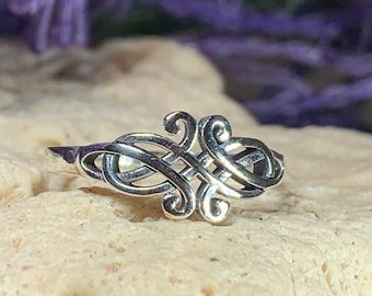 Celtic Knot Ring, Celtic Jewelry, Irish Jewelry, Celtic Knot Jewelry, Irish Ring, Irish Dance Gift, Anniversary Gift, Bridal Ring, Wiccan