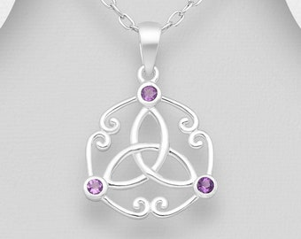 Trinity Knot Necklace, Love Knot Jewelry, Celtic Jewelry, Scotland Jewelry, Irish Jewelry, Wiccan Jewelry, Pagan Jewelry, Scotland Jewelry