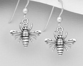 Bee Earrings, Outlander Jewelry, Insect Jewelry, Mom Gift, Graduation Gift, Nature Jewelry, Cancer Survivor, Inspirational, Friendship Gift