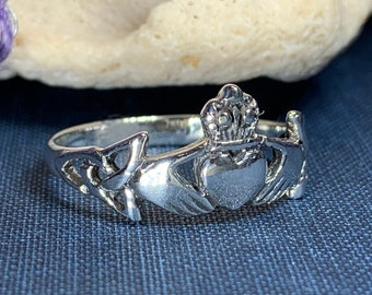 Claddagh Ring, Celtic Jewelry, Irish Jewelry, Celtic Knot Jewelry, Irish Ring, Irish Dance Gift, Anniversary Gift, Bridal Ring, Trinity Knot