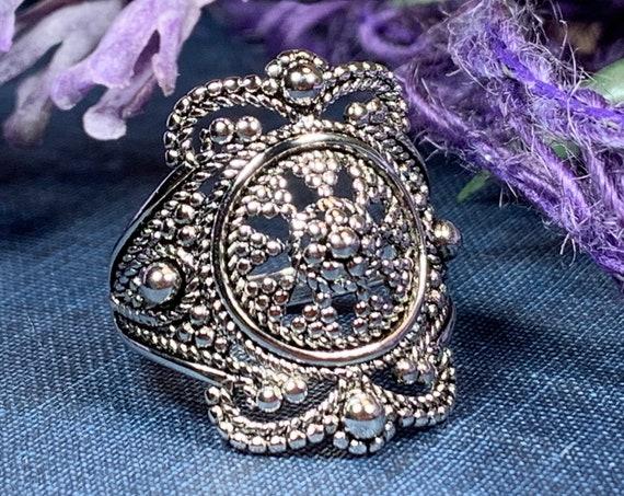 Celtic Goddess Ring, Celtic Jewelry, Irish Jewelry, Celtic Warrior Jewelry, Irish Ring, Ireland Gift, Anniversary Gift, Bridal Ring