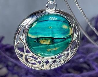 Scotland Heather Necklace, Heather Gem, Celtic Jewelry, Scotland Jewelry, Outlander Jewelry, Celtic Knot Necklace, Gift for Her, Graduation