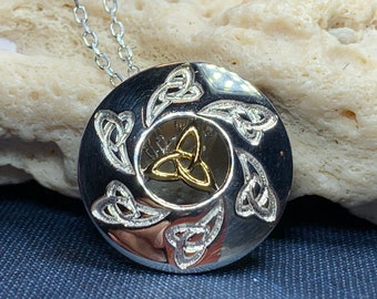 Trinity Knot Necklace, Celtic Necklace, Scotland Jewelry, Irish Jewelry, Triquetra Jewelry, Bridal Jewelry, Norse Jewelry, Anniversary Gift