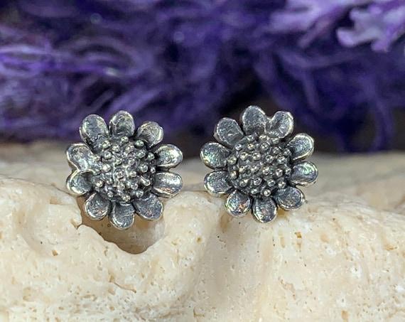Sunflower Earrings, Flower Jewelry, Sunflower Jewelry, Nature Jewelry, Graduation Gift, Stud Earrings, Mom Gift, Sister Gift, Tuscany Gift