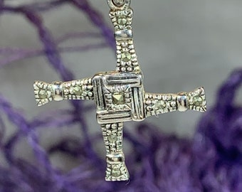 Saint Brigid's Cross, Celtic Cross Pendant, Religious Jewelry, Irish Jewelry, Bridal Jewelry, Anniversary Gift, St. Bridget's Cross Jewelry