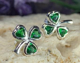 Shamrock Earrings, Celtic Jewelry, Irish Jewelry, Clover Jewelry, Wiccan Jewelry, Anniversary Gift, Sister Gift, Wife Gift, Girlfriend Gift