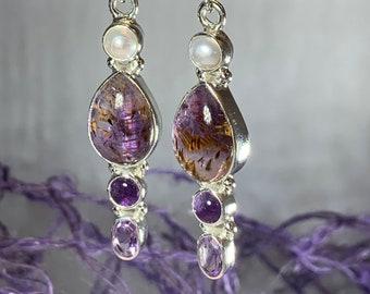 Celtic Goddess Earrings, Celtic Jewelry, Amethyst Jewelry, Wiccan Jewelry, Pagan Jewelry, Anniversary Gift, Graduation Gift, Wife Gift