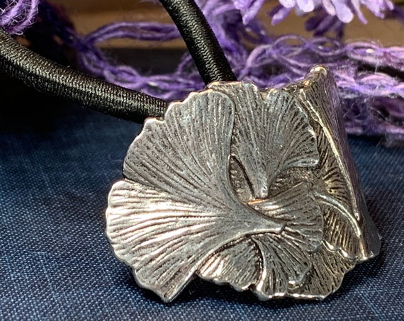 Gingko Ponytail Holder, Celtic Jewelry, Tree Jewelry, Celtic Hair Clip, Leaf Jewelry, Graduation Gift, Retirement Gift, Mom Gift
