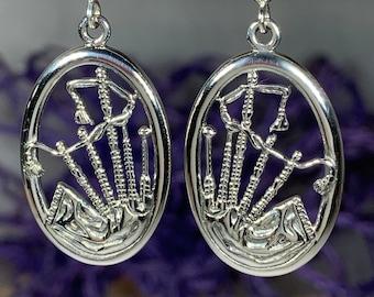 Bagpipes Earrings, Bagpiper Gift, Scotland Jewelry, Irish Jewelry, Anniversary Gift, Outlander Jewelry, Scotland Gift, Scotland Jewelry