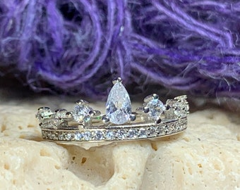 Crown Ring, Celtic Jewelry, Irish Jewelry, Princess Jewelry, Irish Gift, Tiara Ring, Anniversary Gift, Bridal Jewelry, Sweet 16 Gift