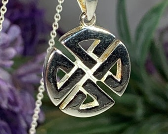 Celtic Knot Necklace, Celtic Necklace, Irish Jewelry, Norse Jewelry, Wiccan Jewelry, Celtic Knot, Mom Gift, Anniversary Gift, Shield Knot