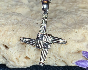 Saint Bridget's Cross, Celtic Cross Necklace, Irish Jewelry, Ireland Gift, Mom Gift, Anniversary Gift, Religious Jewelry, First Communion