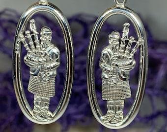 Bagpiper Earrings, Bagpiper Gift, Scotland Jewelry, Irish Jewelry, Anniversary Gift, Outlander Jewelry, Scotland Gift, Scotland Jewelry