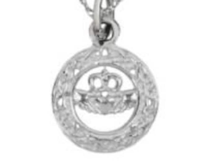 Petite Claddagh Love Charm Celtic Necklace