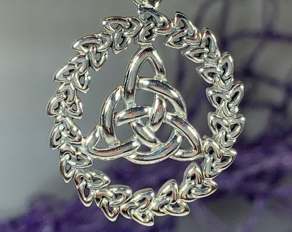 Trinity Knot Necklace, Celtic Necklace, Irish Jewelry, Trinity Knot Jewelry, Wiccan Jewelry, Mom Gift, Anniversary Gift, Scotland Jewelry