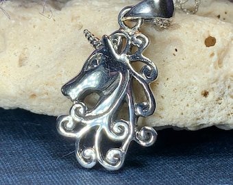 Unicorn Necklace, Celtic Jewelry, Scotland Jewelry, Mythical Creature, Fantasy Jewelry, Daughter Gift, Girlfriend Gift, Scotland Gift