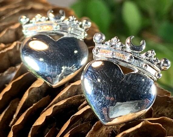 Claddagh Earrings, Celtic Jewelry, Irish Jewelry, Celtic Knot Jewelry, Heart Jewelry, Anniversary Gift, Graduation Gift, Luckenbooth Jewelry
