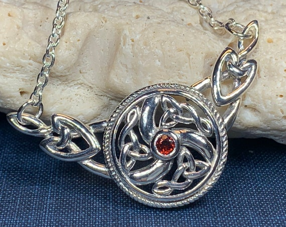 Wheel of Life Necklace, Celtic Necklace, Irish Jewelry, Celtic Family Knot Jewelry, Scotland Jewelry, Mom Gift, Anniversary Gift, Wife Gift