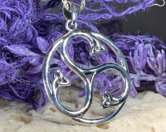 Triple Spiral Necklace, Celtic Jewelry, Irish Jewelry, Trinity Knot Jewelry, Norse Jewelry, Scotland Jewelry, Triskele Jewelry