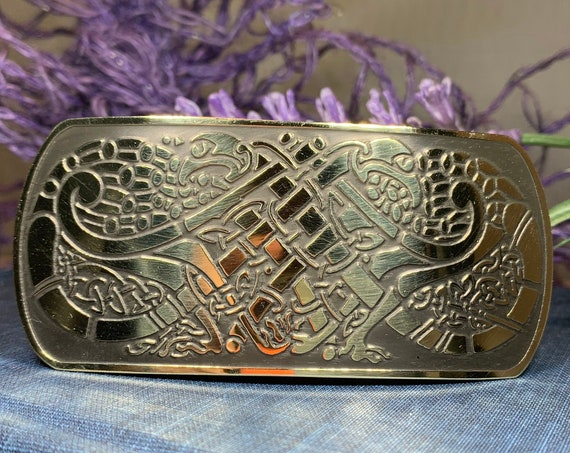 Celtic Knot Hair Clip, Celtic Barrette, Irish Jewelry, Celtic Hair Slide, Friendship Gift, Scotland Jewelry, Norse Jewelry, Animal Barrette