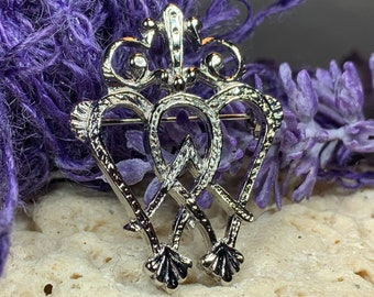 Luckenbooth Brooch, Scotland Jewelry, Mary Queen of Scots, Scotland Pin, Murtagh's Luckenbooth, Anniversary Gift, Bride Pin, Heart Jewelry