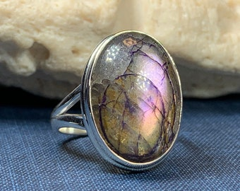 Celtic Magic Ring, Labradorite Jewelry, Statement Ring, Celestial Jewelry, Celtic Jewelry, Anniversary Gift, Wiccan Jewelry, Wife Gift